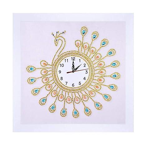 Pintura de Diamante Bordado Reloj de Pared de la Cruz del Rhinestone de la Puntada DIY