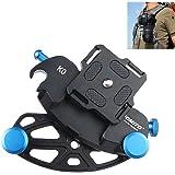 """Fomito Blue Metal Camera Waist Spider Belt Holster 1/4"""" Screw Quick Strap Buckle Dull Polished Surface for DSLR Digital SLR Camera GoPro"""