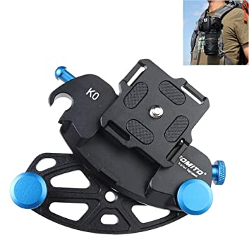 2d880fb3fd8 Fomito Blue Metal Camera Waist Spider Belt Holster 1 4 quot  Screw Quick  Strap Buckle