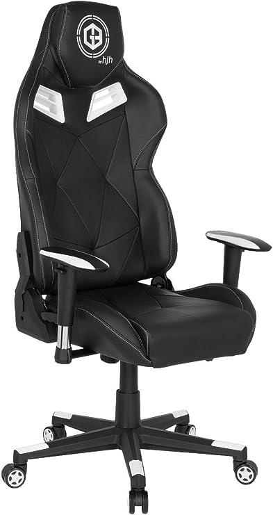 Hjh Office 734000 Gaming Chair Gamebreaker Sx 03 Black High Back Gamer Desk Chair 73 X 69 X 129 139 Cm Amazon De Kuche Haushalt