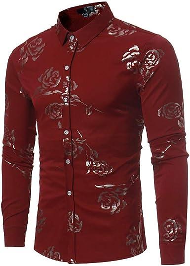 Camisas para Hombres, Dragon868 2020 Venta de liquidación Hombres Casual Rose Impreso BusinessTop Camisa: Amazon.es: Ropa y accesorios