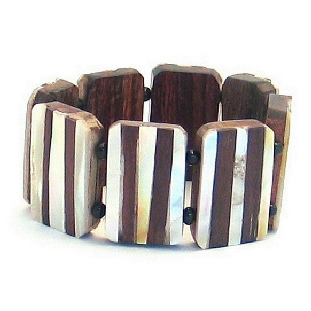 Joe Cool Bracelet Oblongs Made with Shell /& Wood
