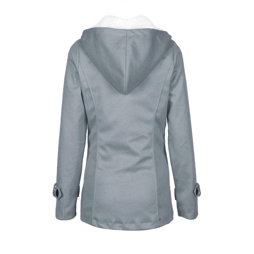 HHmei/_Oct02 Fashion Womens Windbreaker Outwear Warm Wool Slim Long Coat Jacket Trench