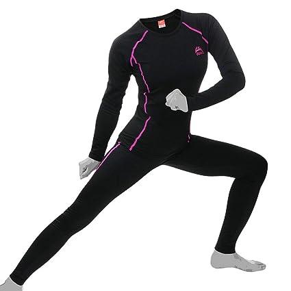 Damen-Unterwäsche Thermo- Unterwäsche Wintersport Funktionswäsche im Set