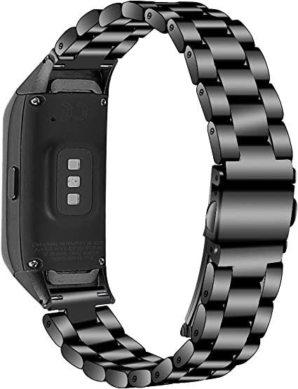 E ECSEM Compatible with Samsung Galaxy Fit SM-R370 Bands, Galaxy Fit Watch Band Solid Stainless Steel Metal Replacement Bracelet Strap fit Galaxy Fit ...