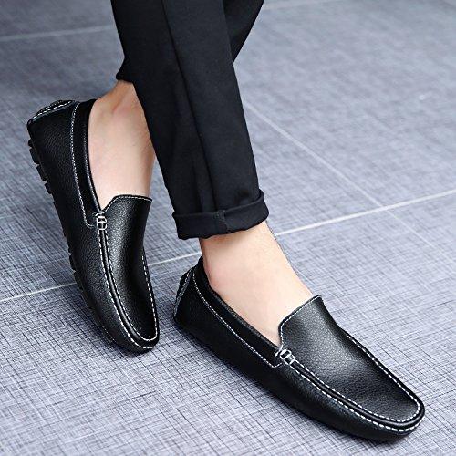 Salabobo QYY-K0083 Mens New Fashion Casual Slip On Loafers Smart Driving Shoes Black UK Size4.5 JKTjL7