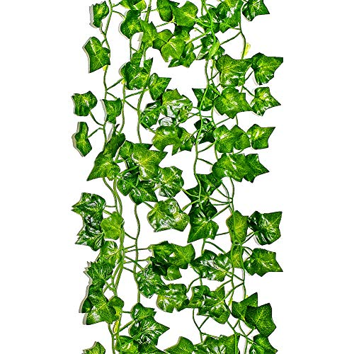 LEFVTM Ivy Garland 6 Feet Long Artificial Vine Plant Leaves Silk Greenery Chain Wedding Party Supplies Garlands Home Garden Wall Decoration Sweet Potato Leaf, Pack of 1