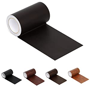 "Leather Repair Tape Patch Leather Adhesive for Sofas, Car Seats, Handbags, Jackets,First Aid Patch 2.4""X15' (Dark Brown Leather)"