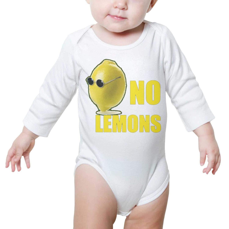 LUCKYBABY No Lemons Glasses Words White Newborn Baby Bodysuit Onesie Long Sleeve Sleepwear Cotton Unisex