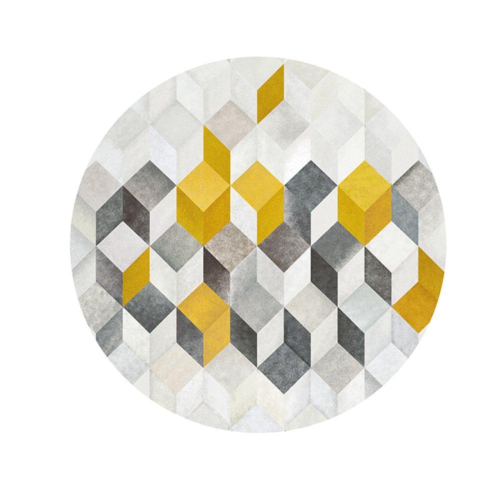 Creative Light Dreidimensionale Moderne runde runde runde Teppiche Pastoralen einfachen Wohnzimmer Schlafzimmer 3D Rutschfeste verschleißfeste Teppiche Korb Drehstuhlmatten b60823