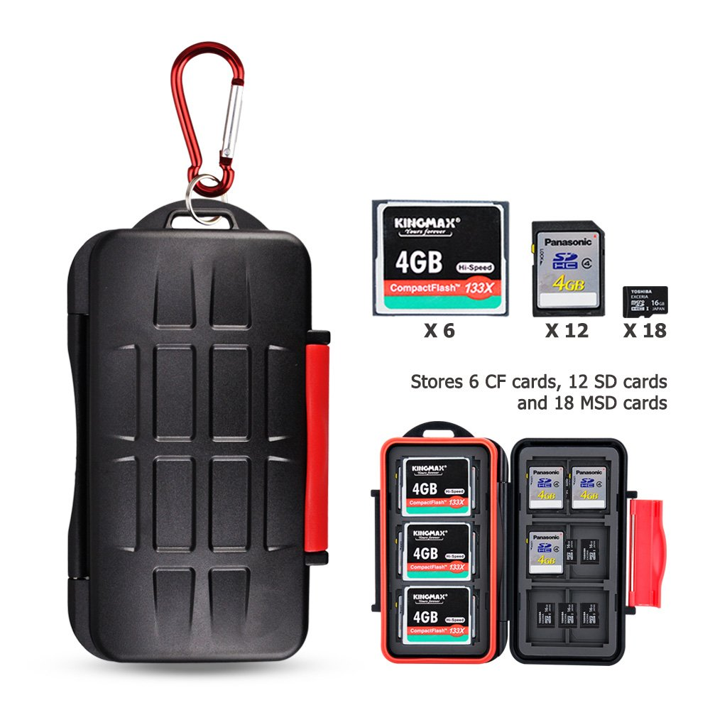 8 Slots Compact SD TF Memory Card Case Holder Storage Protector for 4 SD/SDHC / SDXC Cards + 4 Micro SD/MSD / TF Cards, with Lanyard & Card Removal Pin Tool Jinjiacheng Photography Equipment Co. Ltd. FBA-KC-STS