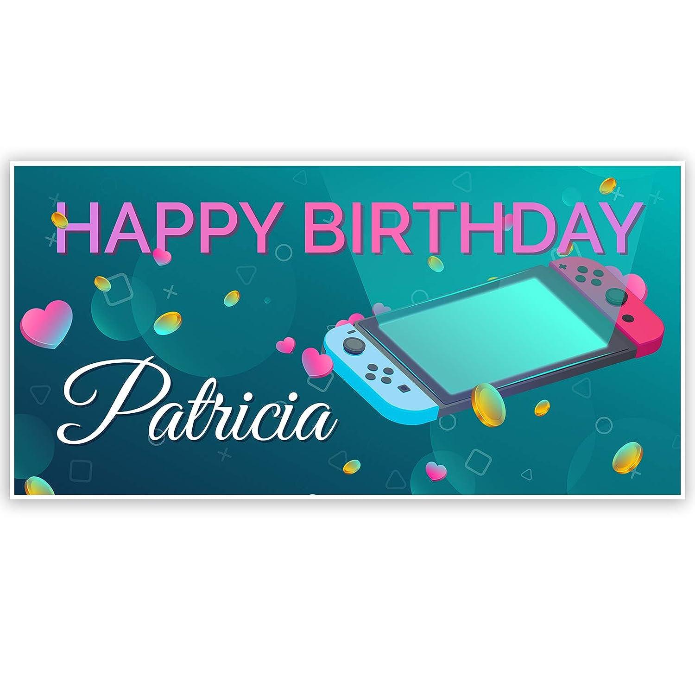 Amazon Com Nintendo Switch Theme Birthday Banner Handmade