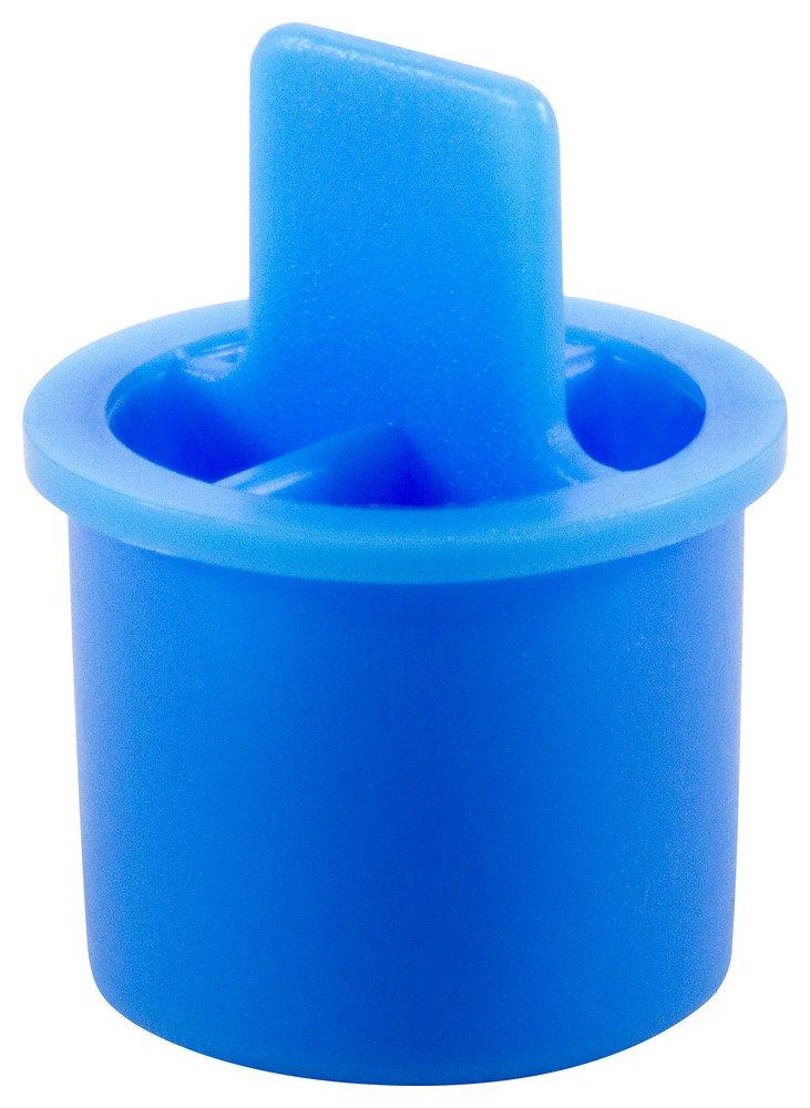 Caplugs QCT41AB1 Plastic Plug for Type L and Type M Tubing. CT-4, PE-LD, Cap OD .38'' Plug ID .330'', Blue (Pack of 1500)