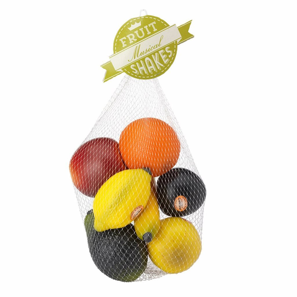 Fruit Shakers - Adorable Instruments that Produce a Mellow Sound! - Set of 7