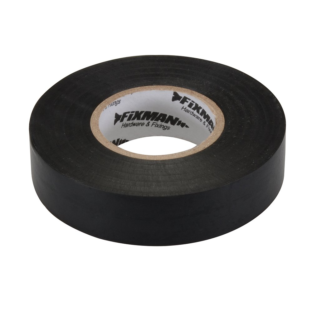 Fixman 192401 White Electrical Insulation Tape 50mm x 33m