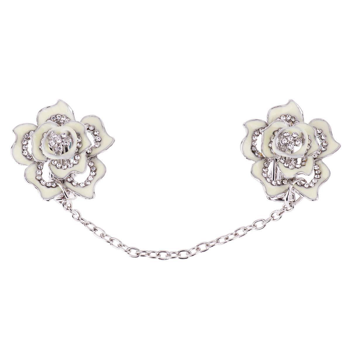 Iiniim Broches Pins Alliage Rose Fleur Femme Homme Clips Chale