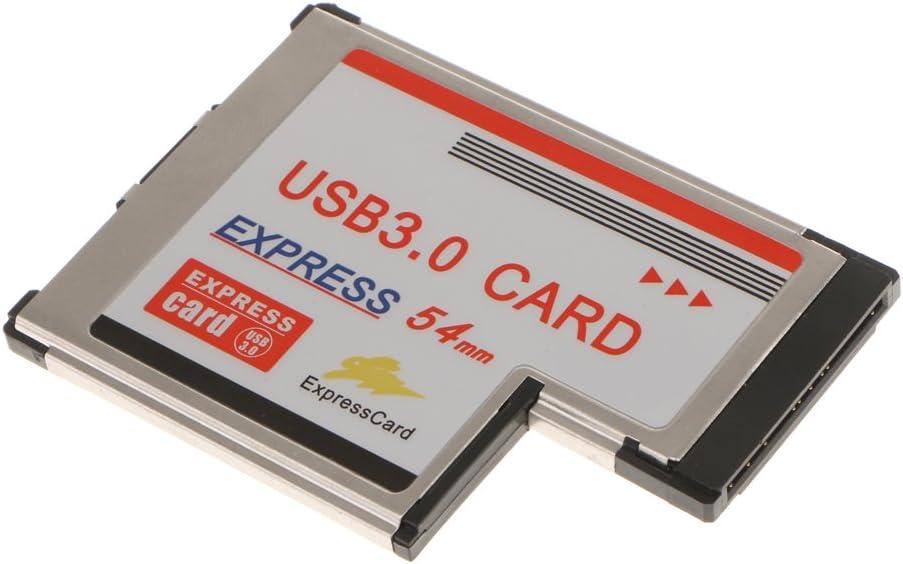 Gazechimp 54mm Express Card ExpressCard to 2Port USB 3.0 Internal Adapter D720202 Chip