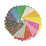 LJY 3/8'' Round Dot Stickers Color Coding Labels, 12 Different Assorted Colors, 36 Sheets, 5940 Dots in Total