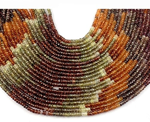 1 Strand Tundra Sapphire Micro Faceted Rondelle Gemstone Bead 3-3.5mm 12.5