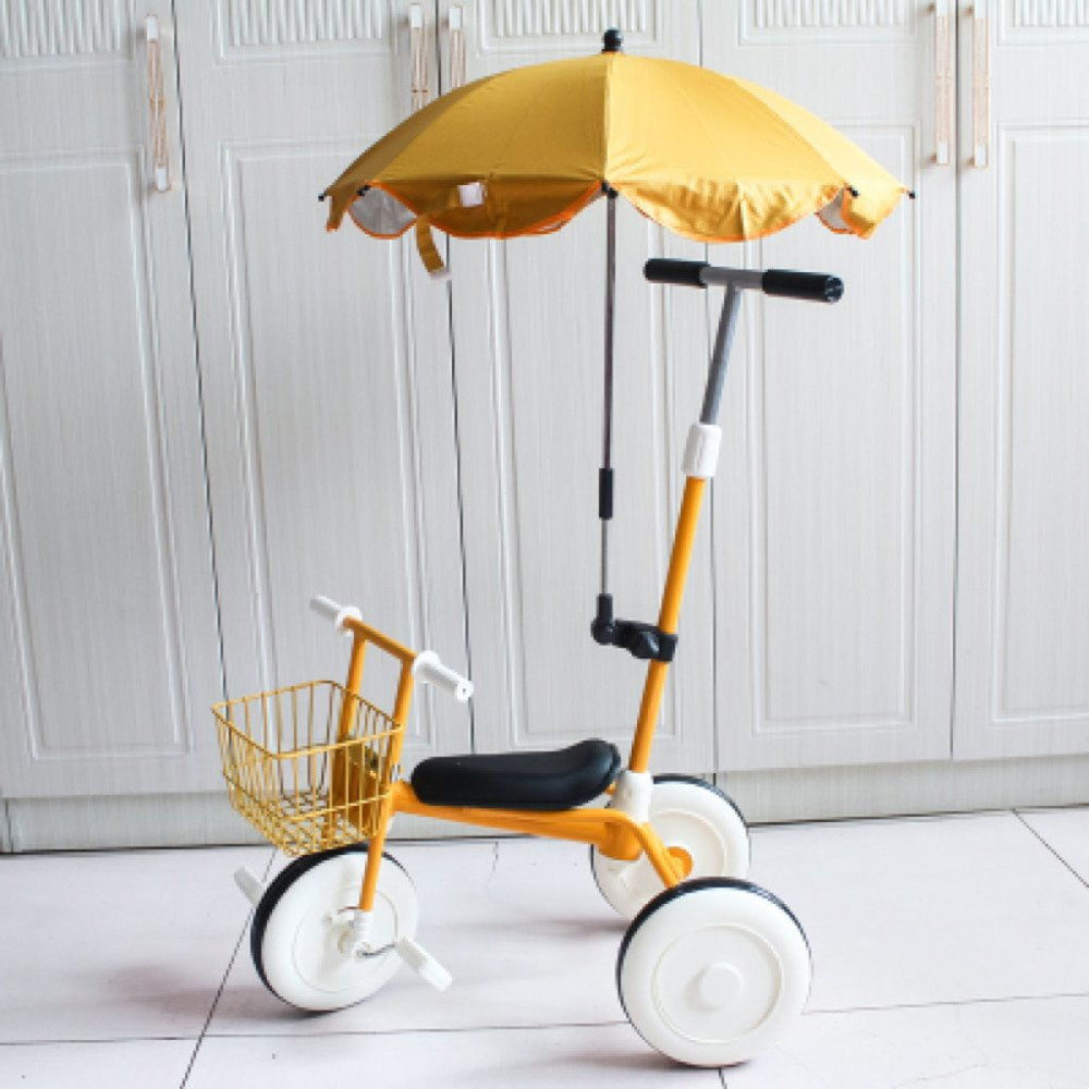 QXMEI Children's Tricycle Pedal 1-3 Years Old Children's Lightweight Trolley Bicycle Baby Stroller,Yellow2