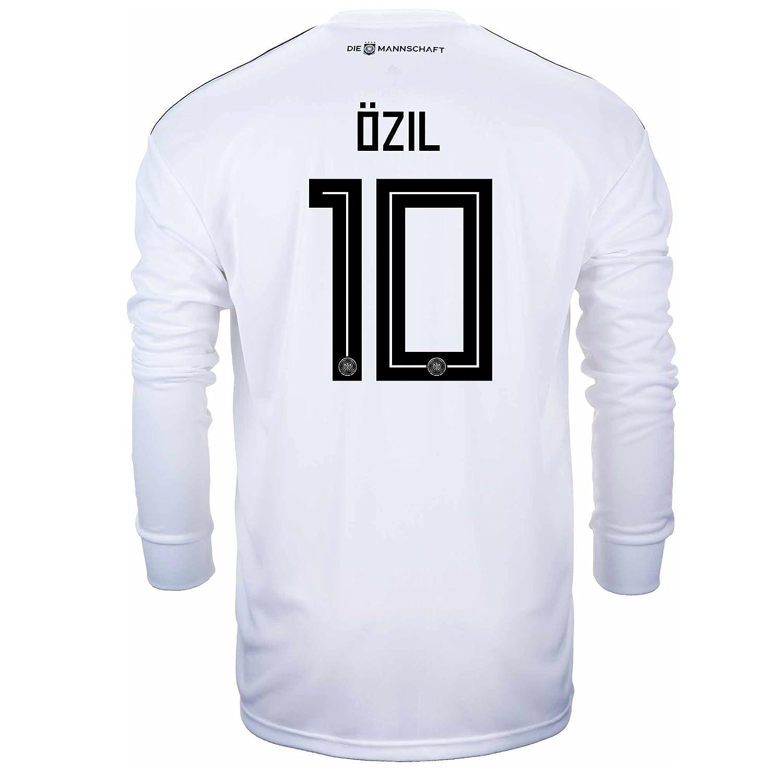 71f53e914e1 Amazon.com   adidas OZIL  10 Germany Home Soccer Long Sleeve Stadium Jersey  World Cup Russia 2018   Sports   Outdoors