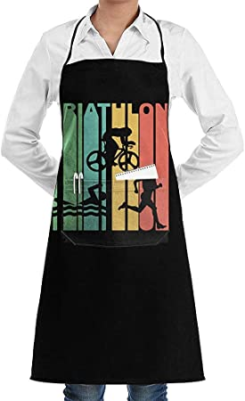 Kitchen Aprons Vintage 1970 'S Style Triathlon Triatleta