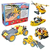 [Bonus Bag] Simbans JB 148 pcs 5-in-1 Model Building Set, Kids Educational Construction Engineering Toy, STEM Build & Play Blocks, DIY Stacking Toys for 8, 9, 10 years old Children -Boys and Girls