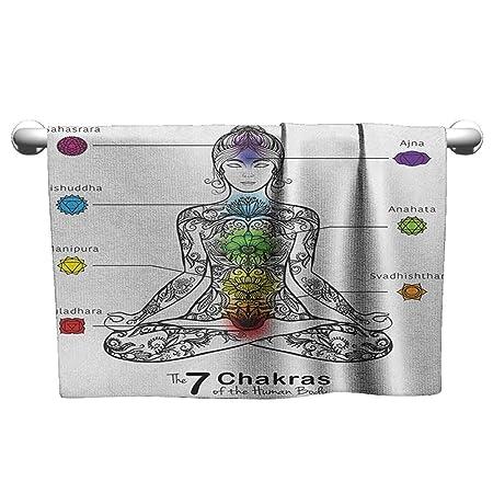 xixiBO Toalla de baño Decorativa para Yoga, Acuarelas arcoíris ...
