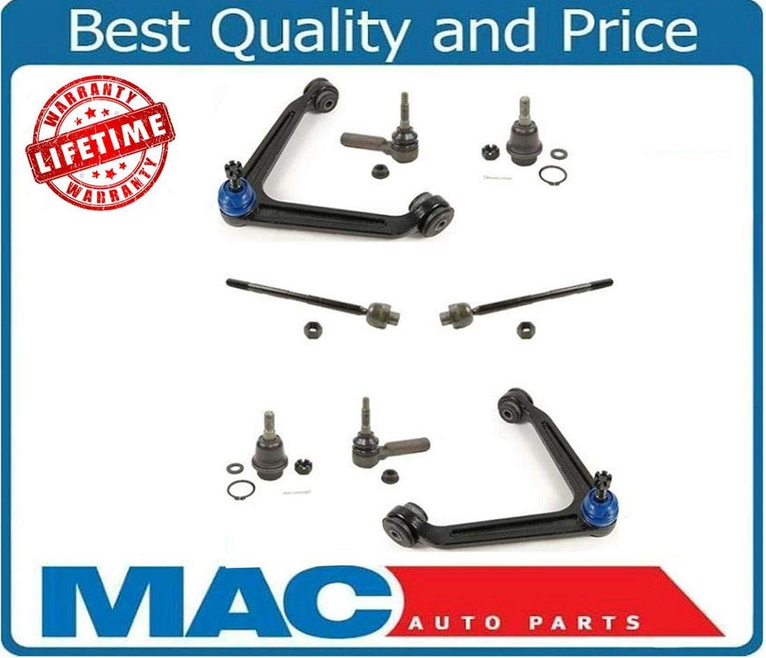 New Upper Control Arms Low Ball Joints Tie Rods 8Pc for Dodge Ram 1500 2002-2005