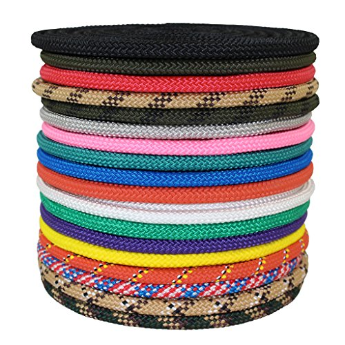 (SGT KNOTS Nylon Rope Utility Rope (3/8 inch) Polypropylene Sheath - Moisture Resistant - for Crafts, Cargo, Tie-Downs, Marine, Camping, Swings (300 ft - Tan/Brown))