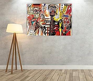 Druck AUF LEINWAND Bild Giallobus 50 x 70 cm Jean Michel Basquiat Metro