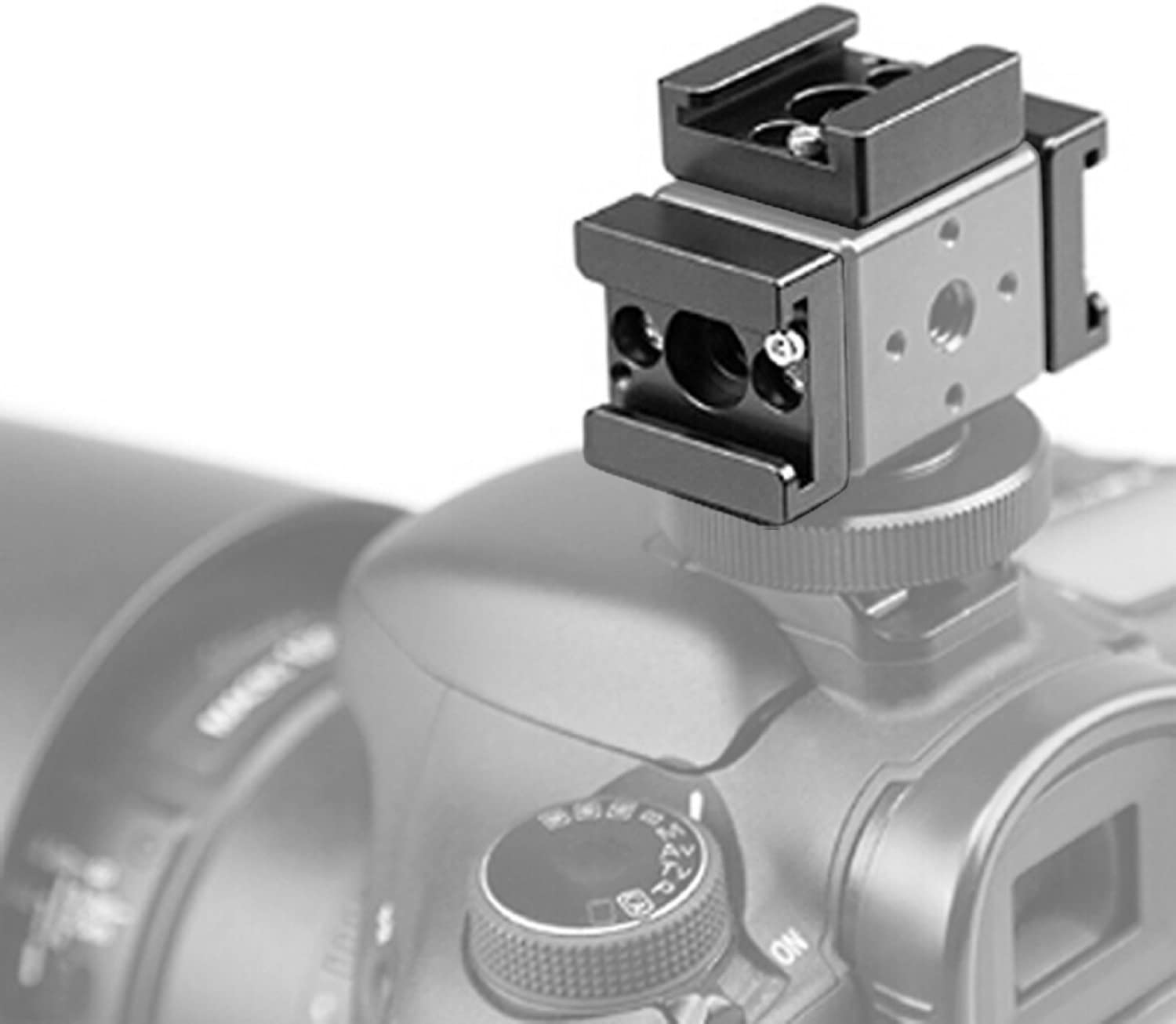 Cold Shoe Mount Adapter Cold Shoe Bracket Standard Shoe Type with 1//4 Thread Hole for Camera DSLR Flash Led Light Monitor Video and More