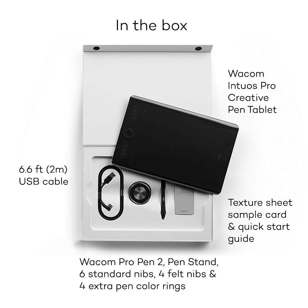 Wacom PTH 660/N Intuos Pro M Tablet grafico e di nero Versione Nord-Europa