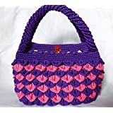 Pink and fruit deep purple color with hand-woven bags