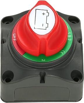 MOTOPOWER MP69157 Battery Switch Battery Isolator 1-2-Both-Off Battery Disconnect Master Cutoff Switch for Marine Boat Car RV ATV UTV Vehicle