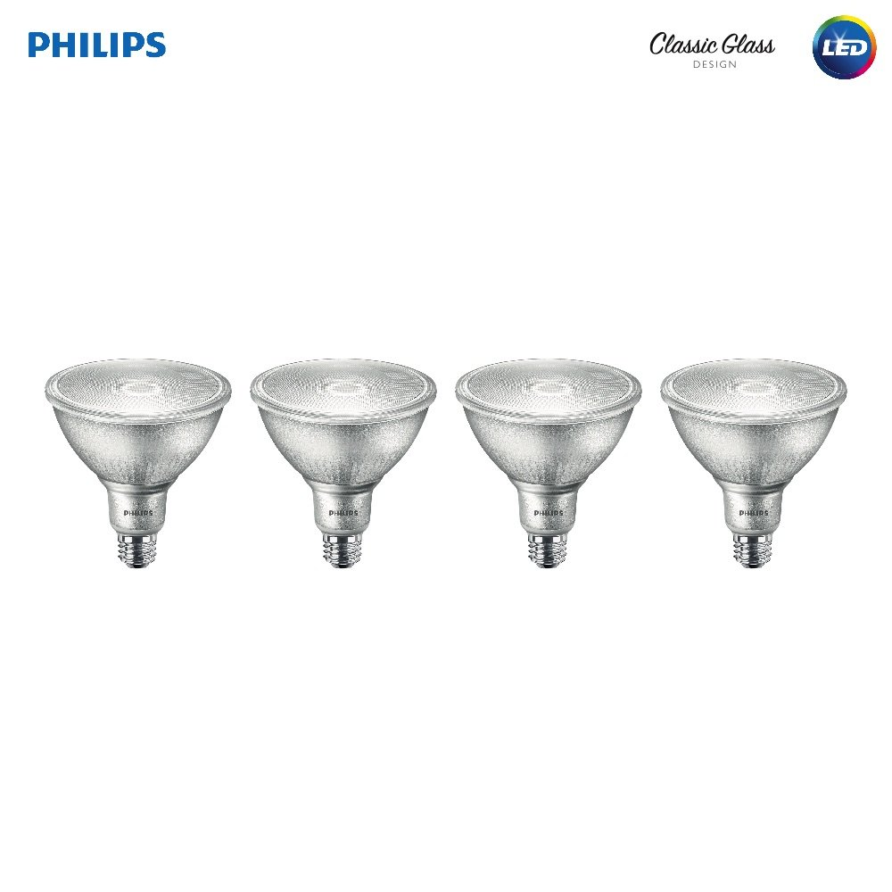 Philips LED Indoor/Outdoor Dimmable PAR38 1200-Lumen, 5000-Kelvin, 14-Watt (120 V)(120-Watt Replacement) Flood Light Bulb, E26 Medium Base, Daylight, 4-Pack