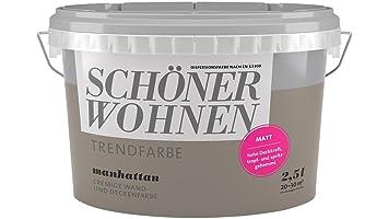 SCHÖNER WOHNEN FARBE Wand- und Deckenfarbe Trendfarbe Manhattan ...