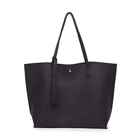 31ef3958d22c Amazon.com  Sumerk Tassel Leather Tote Bag for Women Casual Tote Bags  Shoulder Bag Satchel Ladies Purses and Handbags  Sumerk