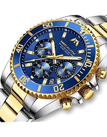 6b78570ad1738e Mens Watches Men Designer Chronograph Military Waterproof Luminous  Stainless Steel Wrist Watch Luxury Fashion Large Date
