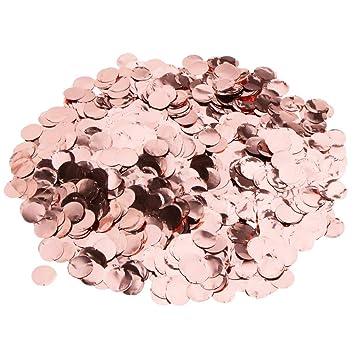 5 Packungen Pop Rose Gold Konfetti Runde Pailletten Tischblume