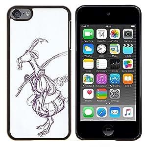 YiPhone /// Prima de resorte delgada de la cubierta del caso de Shell Armor - Dibujo Arte del cuento de hadas del bosque - Apple iPod Touch 6 6th Touch6