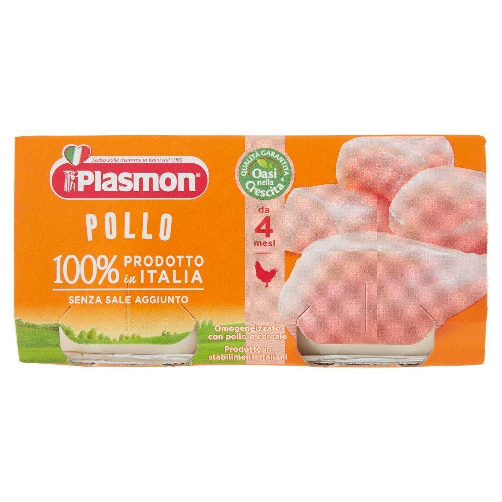 Plasmon Omogeneizzato di Carne di Pollo - 12 vasetti da 80 gr - Totale: 960 gr
