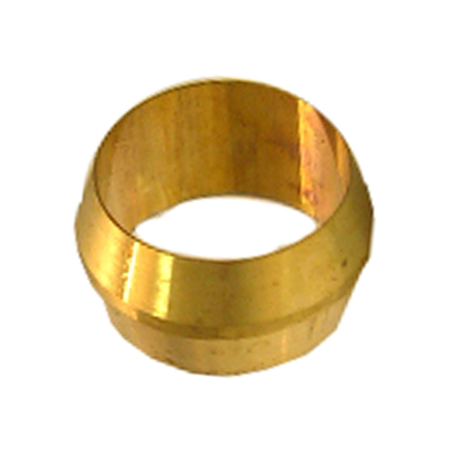 Lasco 17 6001 1 8 inch compression brass sleeves 2 piece for Poly sleeve for copper pipe