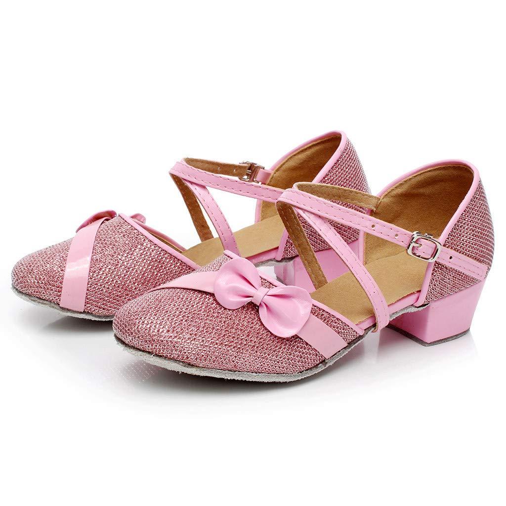 OCEAN-STORE Toddler Baby Kids Girls 4.5-15 Years Single Party Princess Dancing Ballroom Tango Latin Shoes