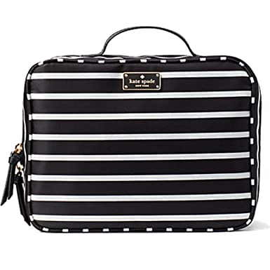 0e6e02b21196 Image Unavailable. Image not available for. Color  Kate Spade New York  Wilson Road French Stripe Travel Cosmetic Case ...