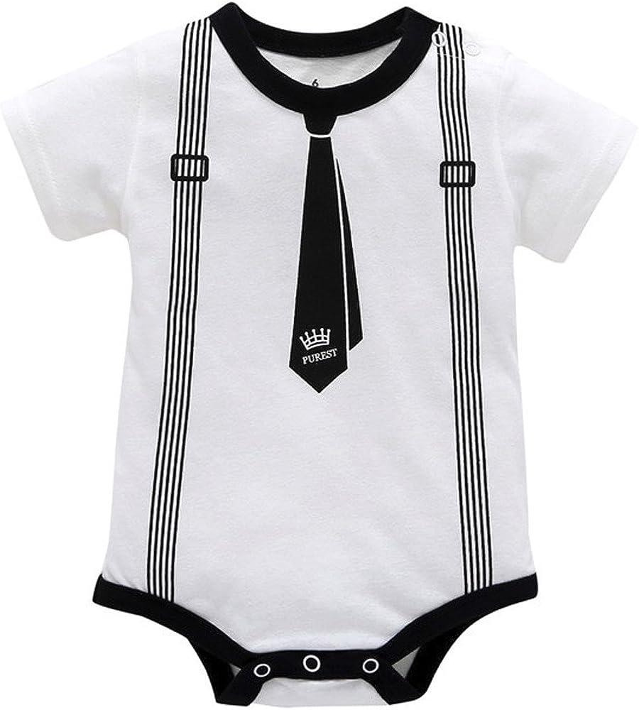 SUCES Baby Overall Herbst Kurzarm Strampler Junge Formal Oberteile M/ädchen S/ü/ß Bequem Kleidung D/ünne Set Hemd