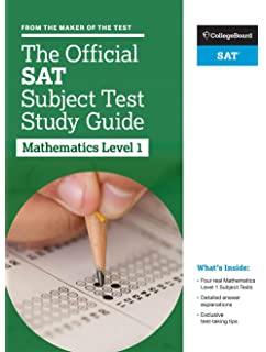 Amazon the official sat subject tests in mathematics levels 1 the official sat subject test in mathematics level 1 study guide fandeluxe Choice Image