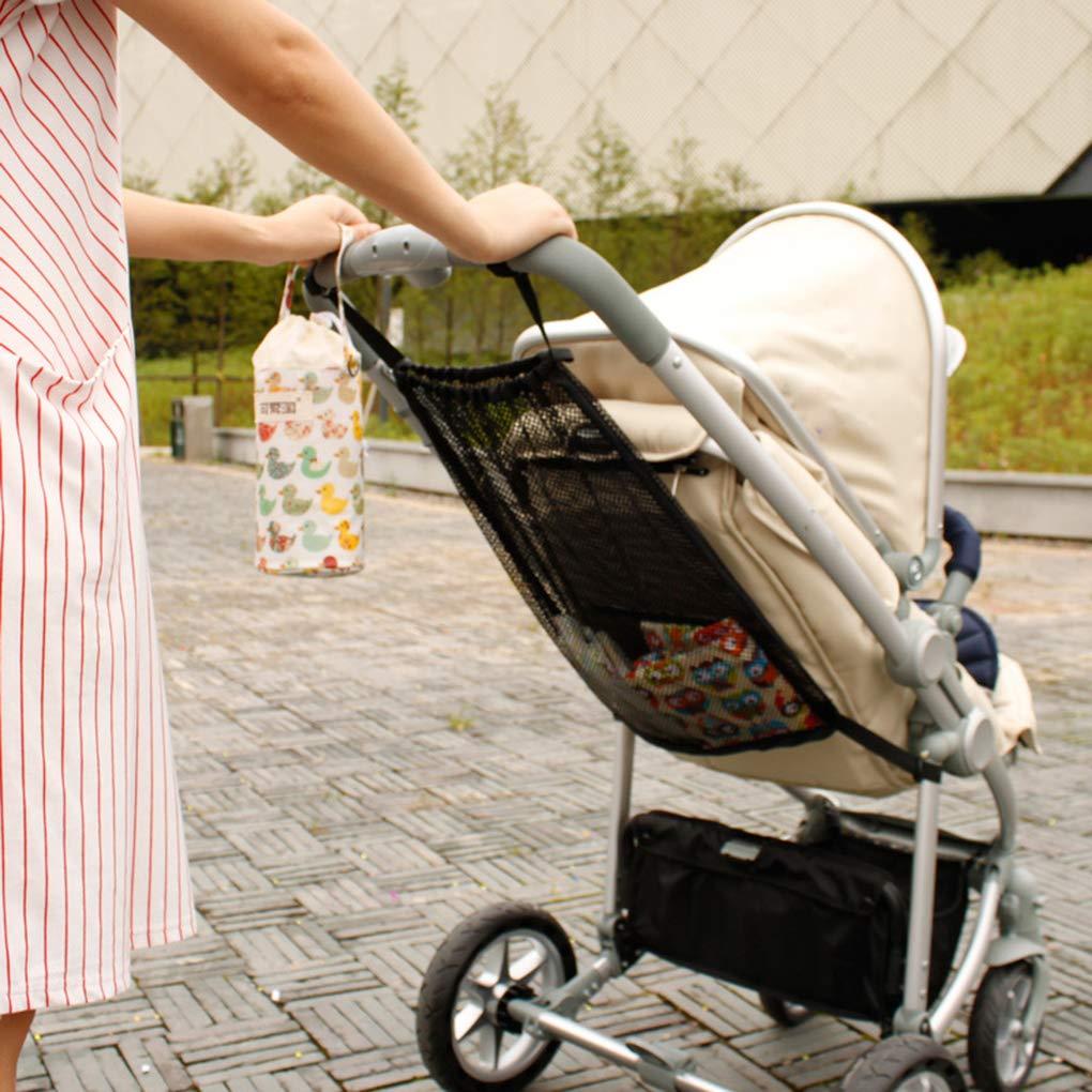 Lindahaot Sac Trolley Net Poussette b/éb/é Organizrer Mesh Rangement Suspendu Panier de Poche pour Nourrissons Accessoires Pratiques