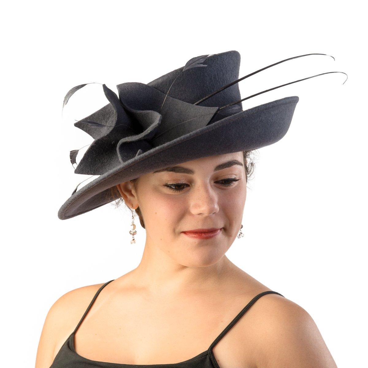 Winter Wool Felt Hat - 456469 (Charcoal)