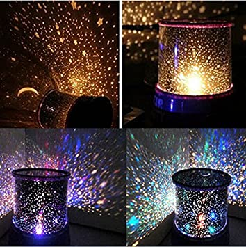 Amazon Com Romantic Led Starry Night Sky Projector Lamp Kids Gift